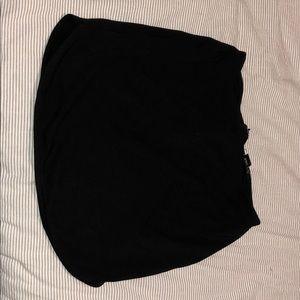 Short tight black skirt